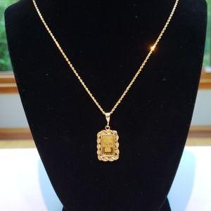 Jewelry - 24k Gold Bar Pendant
